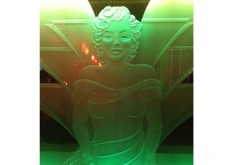 Jenny Death by Death Grips is an embossed image of Marilyn Monroe.