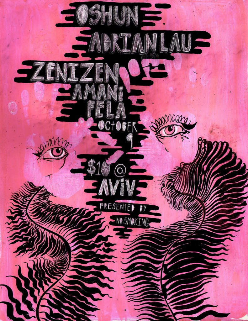 OSHUN, Adrian Lau, Zenizen, and zetetics at Aviv