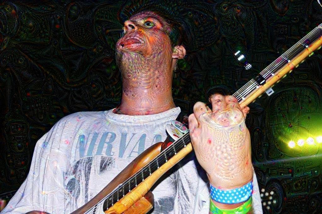 Mac Demarco deep dream dog