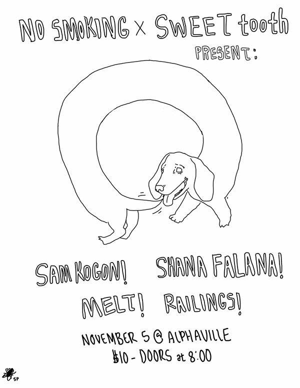 Sam Kogon, Shana Falana, Melt, Railings @ Alphaville