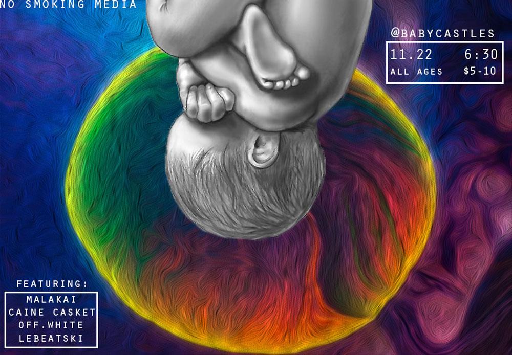 Caine Casket EP release at Babycastles w/ Malakai, off.white, Lebeatski